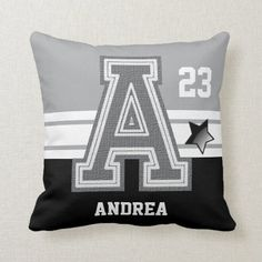 Gray & Black All Varsity Sport Letters Throw Pillow volleyball tournament ideas, volleyball team ideas, volleyball ball Baseball Tips, Baseball Crafts, Baseball Mom, Famous Baseball Quotes, Volleyball Tournaments, Little League Baseball, Custom Pillows, Art Cars, Demons