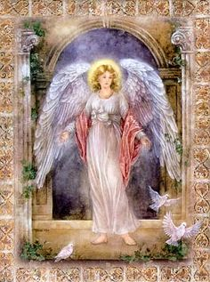 Guardian Angel - we used this Angel for my Mom's prayer card, when she passed.