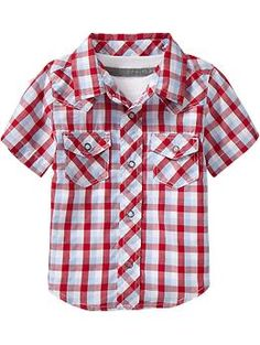 Plaid Western Shirts for Baby Go OLD NAVY!!! Woot Woot!!!