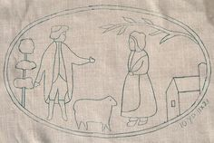 "fraktur patterns | FarmscapeFriends Primitive Pattern # 659 Size 17"" x 27"""