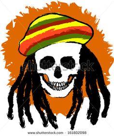 https://www.youtube.com/watch?v=c-XJTQtwYt8  Dreadlocks skull with rastacap. EPS 10
