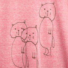 ねこちゃんTシャツピンク - sanaep - WOMEN - 愉快な雑貨、Tシャツ取扱店|TELEFORGEオンラインショップ