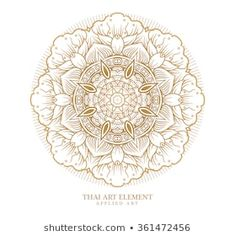 Thai art element for design, Traditional gold decor. Ornamental vintage frame for wedding invitations and greeting cards. Thai Pattern, Thai Art, Pattern Images, Elements Of Art, Vintage Frames, Wedding Invitations, Royalty Free Stock Photos, Greeting Cards, Traditional