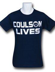 SHIELD Coulson Lives Navy T-Shirt