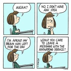 My brain has left for the day!
