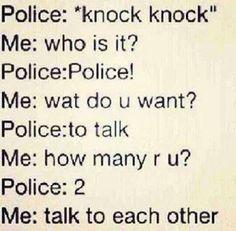 Police - Knock knock