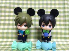 Disney! (Haru is too adorable!) ...  From MkDno ...  Free! - Iwatobi Swim Club, haruka nanase, haru nanase, haru, nanase, haruka, free!, iwatobi, makoto tachibana, makoto, tachibana, figurine