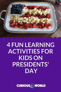Young children may not know much about presidential history yet, but it doesn't mean that it's not a good time to introduce playful activities that boost their leadership and democracy skills. Kids Learning Activities, Educational Activities, Fun Learning, Leadership Skill, Presidential History, Weekend Fun, Presidents Day, Young Children, Cherry Tomatoes
