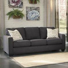 Ashley Furniture Alenya Microfiber Sofa in Charcoal