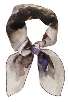 AQUARELLE Viola Silk Woman Scarf