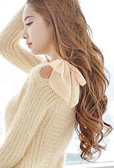 Long Sleeve Bowknot Sweater