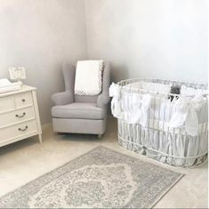 Gorgeous Neutral Nursery with Bratt Decor's j'adore oval iron crib.  Love it in white. Gold is also great.