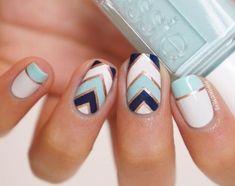 100 Beautiful blue Nail Art Designs 2018 - Reny styles