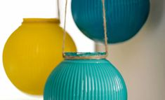 Make Hanging Glass Lanterns