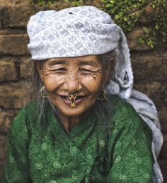 I took this picture of an old woman in a village in Bandipur. The jewellery thing on her nose is called 'Bulaki' which is used to be very popular and common among people from different parts o. Nepal People, Nepal Art, Nepal Culture, Sketches Of People, Photo Competition, Ancient Jewelry, Young And Beautiful, Female Portrait, People Around The World
