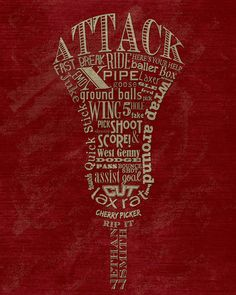Custom Lacrosse Attack Attackman Word Art by ShaunaSmithDesigns