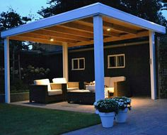 Overkapping met verlichting The Outsiders, Pergola, Outdoor Structures, Arbors