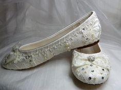 Sweet Wedding Ballet Flats // Etsy