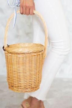 Basket Bag, Birkin, Straw Bag, Handle, Baskets, Women's Fashion, Accessories, Fabric, Products