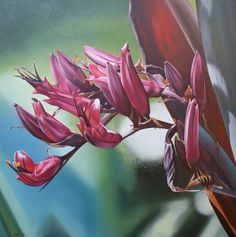 Harakeke Flowers II, Allan Batt