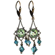 HisJewelsCreations Vintage Inspired Chandelier Crystal Filigree Earrings -- Continue to the product at the image link. (This is an affiliate link) #ILoveJewelry