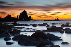 Sunset in Gaztelugatxe, Vizcaya, Spain. Photo: Andoni Lamborena Barreras.