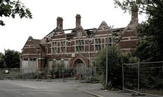 Hellingly Hospital, East Sussex - opened in 1903 and closed in 1994. Since its abandonment it's been assailed by vandals and arsonists.