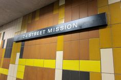 bay area sign&logos | San Francisco - Mission District: 24th Street Mission BART station ...
