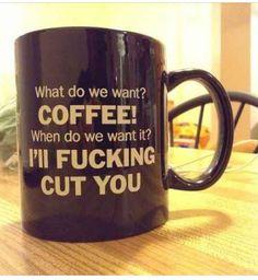 LMAO!!! Coffee does wonders.