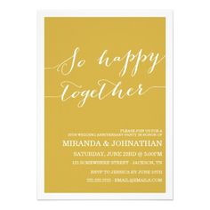 Green Wedding Anniversary Invitations