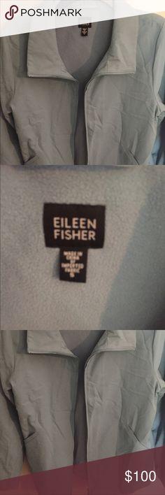 Eileen Fisher jacket Light aqua color, excellent condition Eileen Fisher Jackets & Coats