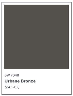2021 Color of the Year :: Sherwin-Williams Urbane Bronze SW 7048 Urbane Bronze Sherwin Williams, Happy Paintings, Home Quotes And Sayings, Color Of The Year, Read More, Paint Colors, Encouragement, Design Inspiration, Feelings