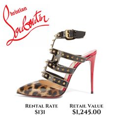 3f8da412a86a Christian Louboutin TChicaboum Spiked Leopard Patent Leather 100mm Heel Patent  Leather Pumps