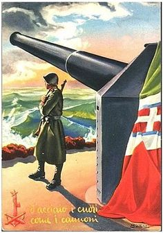 Italian  WW2   Italian Warrior Guarding the homeland ~Via Greg Speck