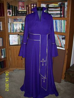 Custom Clergy Robes Very Nice Quality One of A Kind Custom Men and Women Clergy Robes at A Reasonable Price, please contact me at credes27@bellsouth.net, credes27@heavensjoygifts.com and 678-565-4683. www.heavensjoygifts.com.