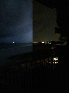 Taken as a flash of lightening lit the sky - St. Pete Beach, Florida; July, 2014
