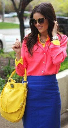 Love the bold mix of brights (looks like a variation of mixing primaries)