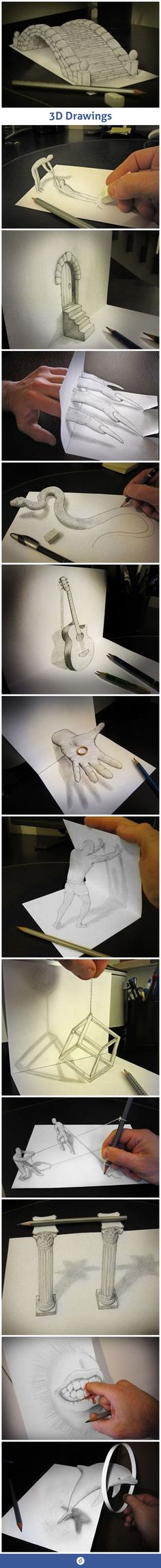 Amazing 3D-Drawings Art  #photuwalebaba