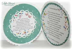 Kolorowe kwiatki i miś - kartka z okazji 1 urodzin Marysi