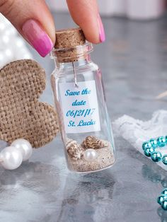 Wedding Gifts For Guests Custom Wedding Favors Message In A Bottle Personalized Tag Wedding Bottles White Pearl Unique Favors Beach Theme Wedding Beach In A Bottle Wedding Favours Messages, Custom Wedding Favours, Wedding Favors For Guests, Wedding Invitations, Homemade Wedding Favors, Summer Wedding Favors, Wedding Beach, Wedding Desert, Blue Wedding