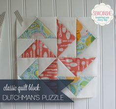 Classic Blocks: Fresh Fabrics for May... the Dutchman's Puzzle — SewCanShe | Free Daily Sewing Tutorials