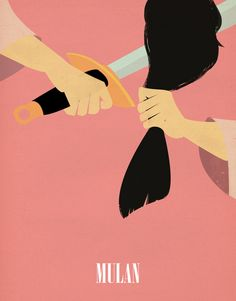 Mulan poster. It seems like the arms are from two separate girls, and the hair is another, but still very nice.
