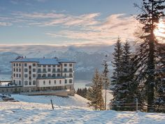 Built above Lake Lucerne in 1905, the Swiss hotel offers a heated, year-round pool, access to nearby hiking and mountain-biking paths, and a 20-seat movie theater. Make sure to take a few minutes to relax into the leather armchairs next to the lounge's larger-than-life fireplace and try an exclusive selection of cigars after dinner. But the real beauty of the location comes from the hotel's panoramic alpine and lake views from the terrace and from many of the rooms.