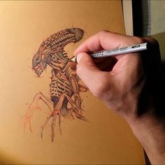 Xenomorph alien timelapse. Artprint available at: society6.com/psdelux Note: This is a movie click to view