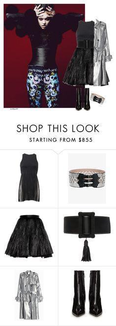 """Mysterious..."" by katelyn999 ❤ liked on Polyvore featuring Roberto Cavalli, Alaïa, Yves Saint Laurent and Balenciaga"