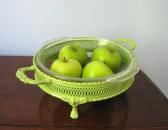 Refinished Apple Green Server with Vintage Anchor by fbstudiovt, $17.95