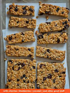 Use these homemade granola recipes to satisfy your sweet tooth the healthy way. These easy granola bar recipes will get you homemade granola bars in no time Healthy Granola Bars, Homemade Granola Bars, Vegan Granola, Healthy Recipes, Snack Recipes, Bar Recipes, Healthy Snacks, Recipies, Snacks List