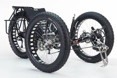 Fat-Bike 'Trike' Made Custom For Expedition To South Pole, so yeah, it's got 3 wheels.