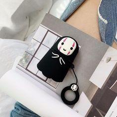 No Face Airpods Case 3 Keyword: studio ghibli films, studio ghibli films produced, spirited away, my neighbor Totoro, spirited away no face Airpod Pro, Airpod Case, Totoro, Bluetooth, Pink Panda, Earphone Case, Cute Keychain, Spirited Away, Air Pods