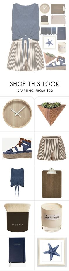 """HIGH BY THE BEACH"" by dianakhuzatyan ❤ liked on Polyvore featuring WithChic, 3.1 Phillip Lim, Alice + Olivia, ferm LIVING, Becca, Olfactive Studio, Kate Spade, Cost Plus World Market, Humble Chic and polyvoreeditorial"